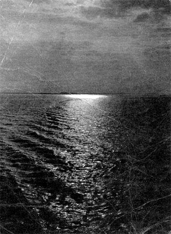 Почтовая открытка «Рыбинское море» - 1958г., СССР