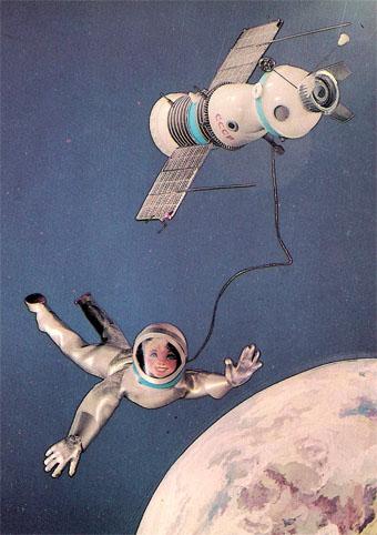 Почтовая открытка «В космосе» - 1988г., СССР
