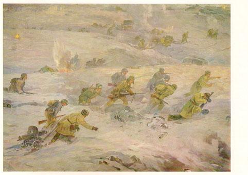 Почтовая открытка «Бойцы 62-й Армии в контрнаступлении» - 1988г., СССР