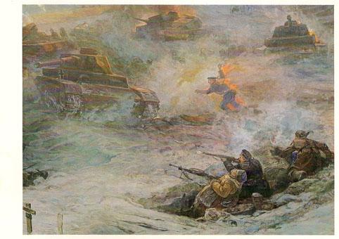 Почтовая открытка «Подвиг морского пехотинца Михаила Паникахо» - 1988г., СССР